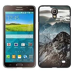 EJOY---Cubierta de la caja de protección la piel dura para el / Samsung Galaxy Mega 2 / --Oscuras Montañas Rocosas