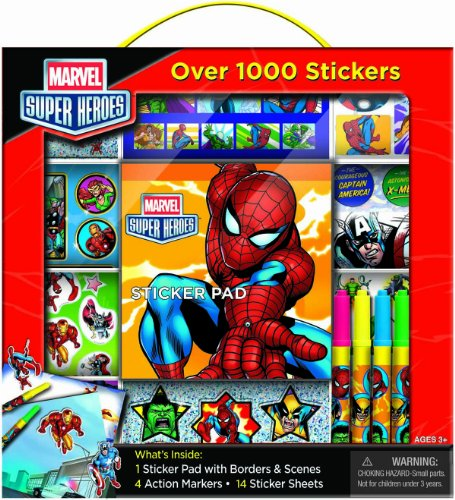 Bendon Marvel Super Heroes Sticker Box with Handle Activity Set