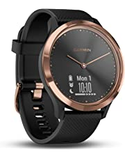 Garmin vivomove HR Hybrid Smart Watch (Small/Medium) - Rose-Gold with Black Band