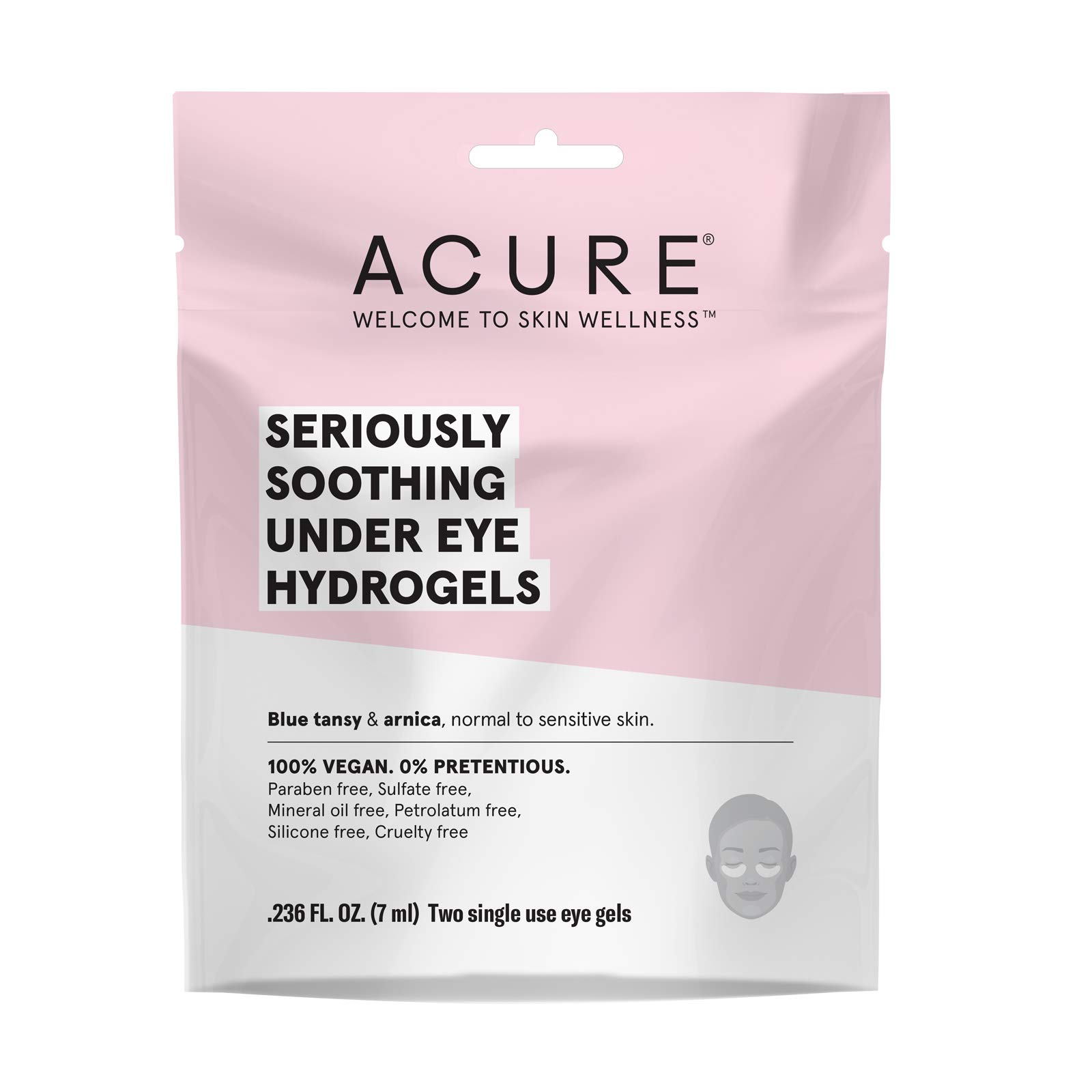 Acure Seriously Soothing Under Eye Hydrogels, 12 Count