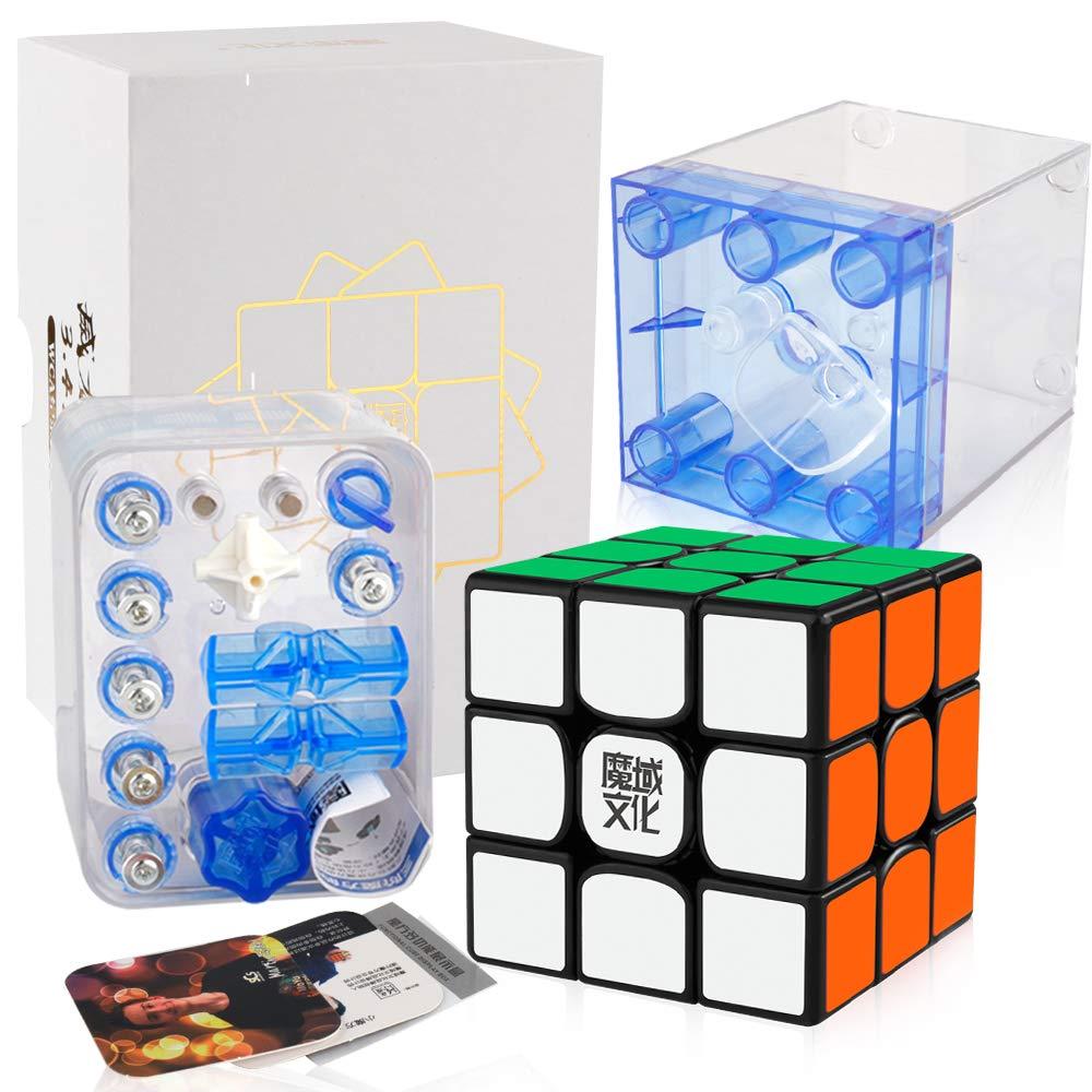 D-FantiX Moyu Weilong WR M Speed Cube 3x3 Weilong WRM Magnetic 3x3x3 Puzzle Cube Black by D-FantiX