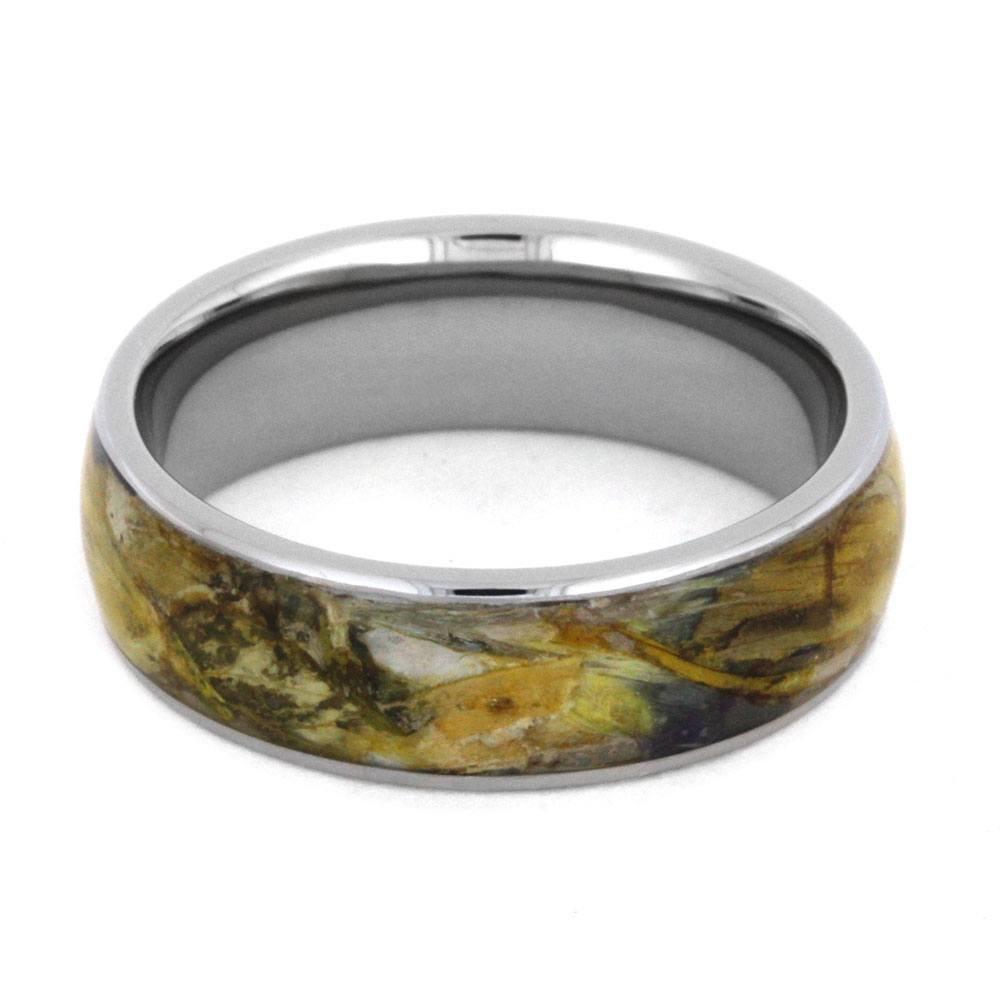 Flower Petal 6mm Comfort-Fit Titanium Band, Size 10.75 by The Men's Jewelry Store (Unisex Jewelry) (Image #3)