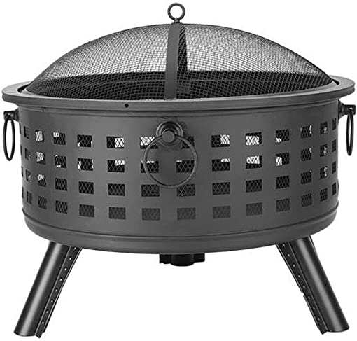 26 Inch Round Lattice Fire Bowl Fire Pit