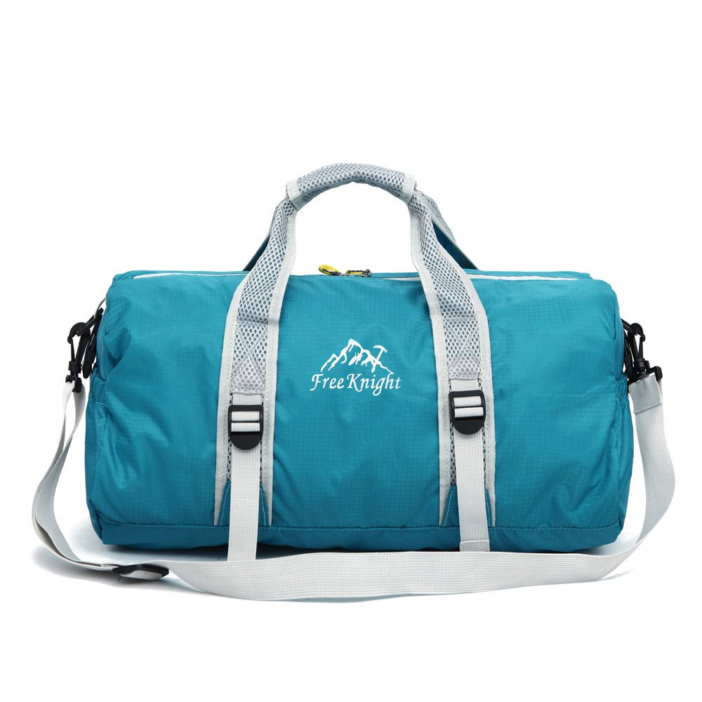 Hulorry Travel Duffle Bag with Shoe Compartment,Traveling Shoulder Bag Sports Lightweight Waterproof Travel Duffle Bag with Side Pockets Large Capacity Bag for Yoga Gym Climbing Hiking Camping