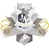 """Second Nature Pop Ups""""Bride and Groom"""" Wedding Day Card"""