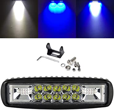 2x 12V 24V 24W LED WORK FLOOD LIGHT LAMP CAR JEEP TRUCK BOAT OFFROAD ATV CHASSIS