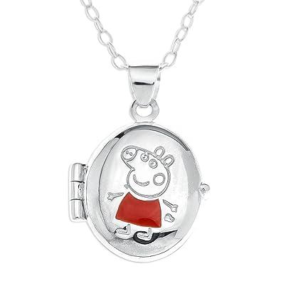 Peppa pig sterling silver oval locket pendant with 40 cm chain peppa pig sterling silver oval locket pendant with 40 cm chain aloadofball Images