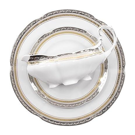 Fine China/Porcelain Bolero Dinner set 12/45 Princess style with 24K gold and  sc 1 st  Amazon.com & Amazon.com | Fine China/Porcelain Bolero Dinner set 12/45 Princess ...