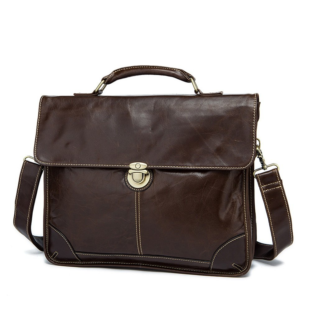 Brown MLMHLMR Mens Briefcase Tote Bag Fashion Business Mens Bag Shoulder Messenger Bag Tide 38x30.5x9cm Briefcase