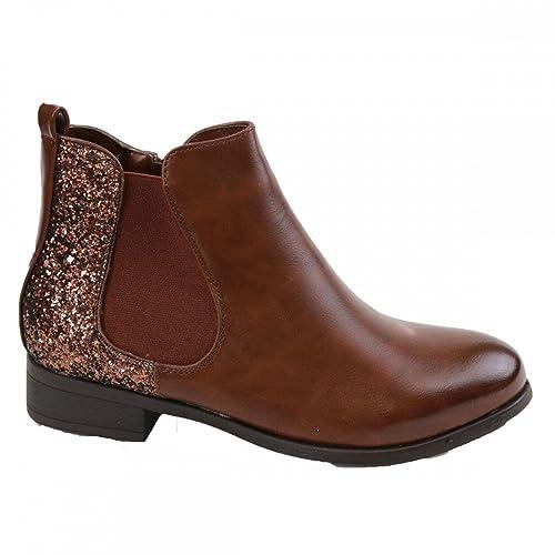 Boots chelsea Camel - Marron - Taille 37 EU  Amazon.fr  Chaussures et Sacs f716ff35821b