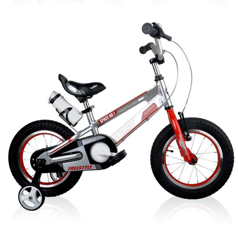 XQ TR-959シルバー子供の自転車キッズ自転車3-8歳の少年少女の乗馬の安全安定した12インチ 子ども用自転車 B07C5N1X93