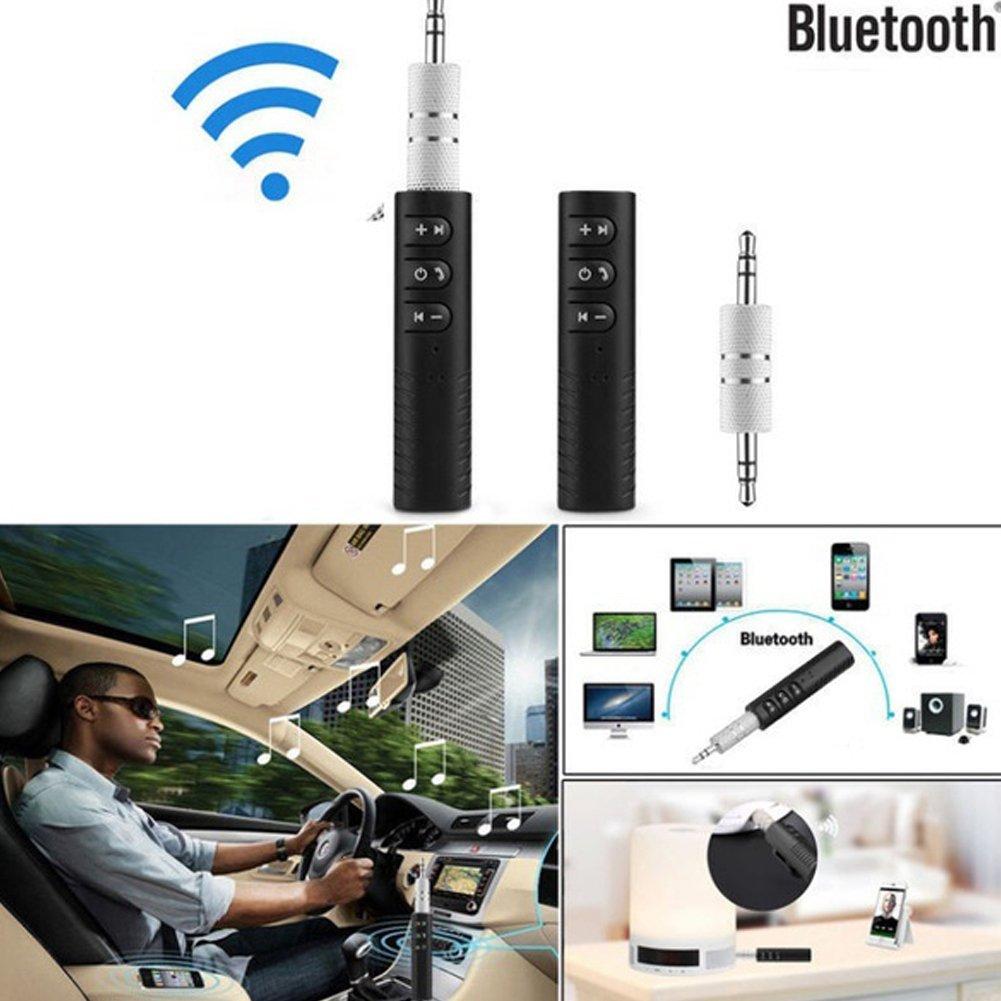 Bluetooth transmisores de Bluetooth Alivier receptores de componentes de Audio WH 1 Adaptador port/átil Bluetooth 4.1 para Coche Adaptador AUX