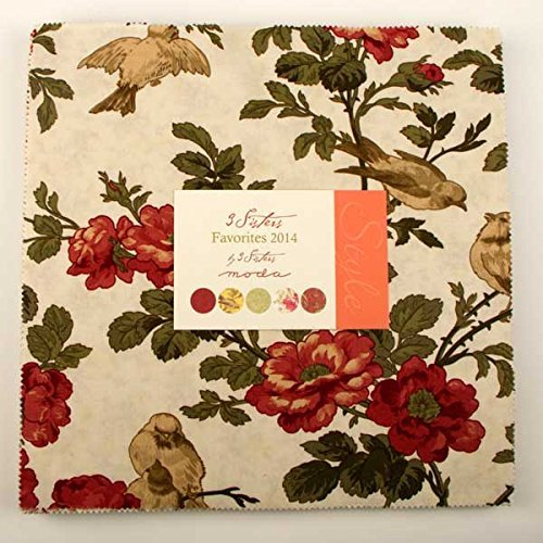 Moda 3 Sisters Favorites 2014 Layer Cake Fabric Squares 42 pc Ten Inch (3 Sisters Moda)
