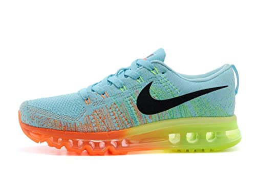 detailed look a0623 ad99e Airmax Flyknit Max Light Blue Green Orange Sports Shoes For Mens  Buy  Online at Low Prices in India - Amazon.in