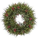 Nearly Natural Cedar Berry Wreath, 20'