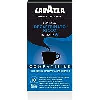 Lavazza Cápsulas de Café Compatibles con Nespresso Espresso Decaffeinato Ricco, Paquete de 10 Cápsulas