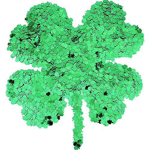 Skylety 6000 Pieces St. Patrick's Day Confetti Small Sequin Glitter Table Decoration Shamrock Confetti for Party Supplies (Color 2)