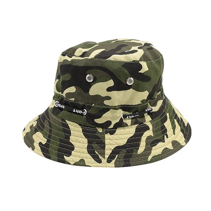 54aae6e436c Camouflage Unisex Bucket Hat Fisherman Cap Hunting Fishing Outdoor Cap  Men s Women s Summer Sun ...