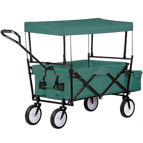 UISEBRT - Carro Plegable para jardín, con Frenos, Ruedas Delanteras giratorias 360º, Mit