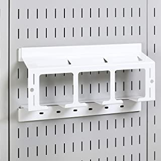 product image for Wall Control Drill Holder Power Tool Storage Rack - Compact Impact Drill Battery Power Tool Pegboard Organizer for Wall Control Pegboard (White)