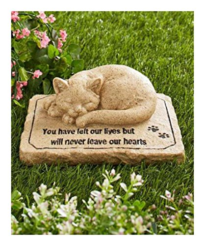 L STATUE GRAVE MARKER HEAD STONE Paw Kitten Pet Garden Outdoor (Head Urn)