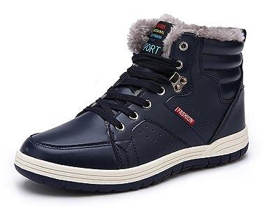Eagsouni Bottes de Neige et Boots Baskets Mode Hiver Chaudes Chaussures  Fourrées Pour Homme e43755c6d6a5