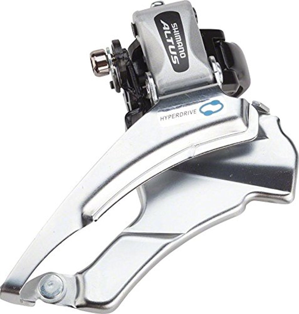 SHIMANO FD-M313, Down Swing,Dual-Pull for Rear 7/8-SPD, Band Type 34.9M(W/31.8 & 28.6MM Adapter) for 42/48T, CS-Angle:66-69 by SHIMANO