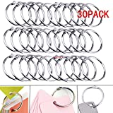 Lsgoodcare Metal Loose Leaf Binder Rings with 1.5 Inch Interior Diameter, Silver Openable Rings for Book/ Key Chain/ Photo Card/ Paper Organization/ Curtain Ect, Pack of 30