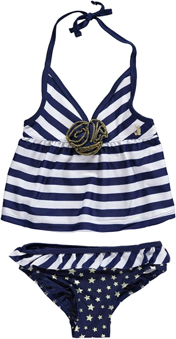 Rugged Bear Little Girls Sailing 2Pc Tankini Two Piece Swimsuit