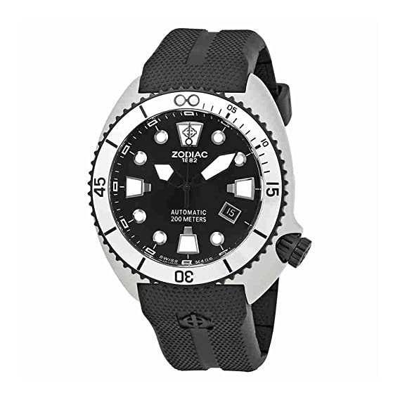 Zodiac Classic Reloj de hombre automático 45mm correa de silicona ZO8013: Amazon.es: Relojes