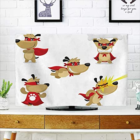 Auraisehome Protege tu televisor, diseño de Dibujos Animados para niños, patrón Colorido de Dragones,, Protege tu televisor de 48,26 cm de Ancho x 76,2 cm de Alto.: Amazon.es: Hogar