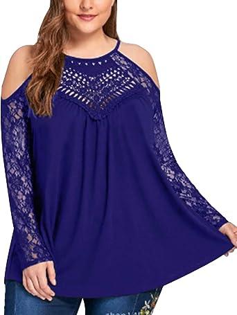 Auxo Camisa larga para mujer, cuello en V, túnica envuelta en la parte superior, blusa de manga 3/4, tamaño grande, sólido mini vestido