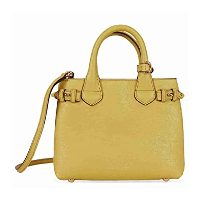 2177681e72f Amazon.com: Burberry The Baby Banner Leather and House Check Tote - Citrus  Yellow: Shoes