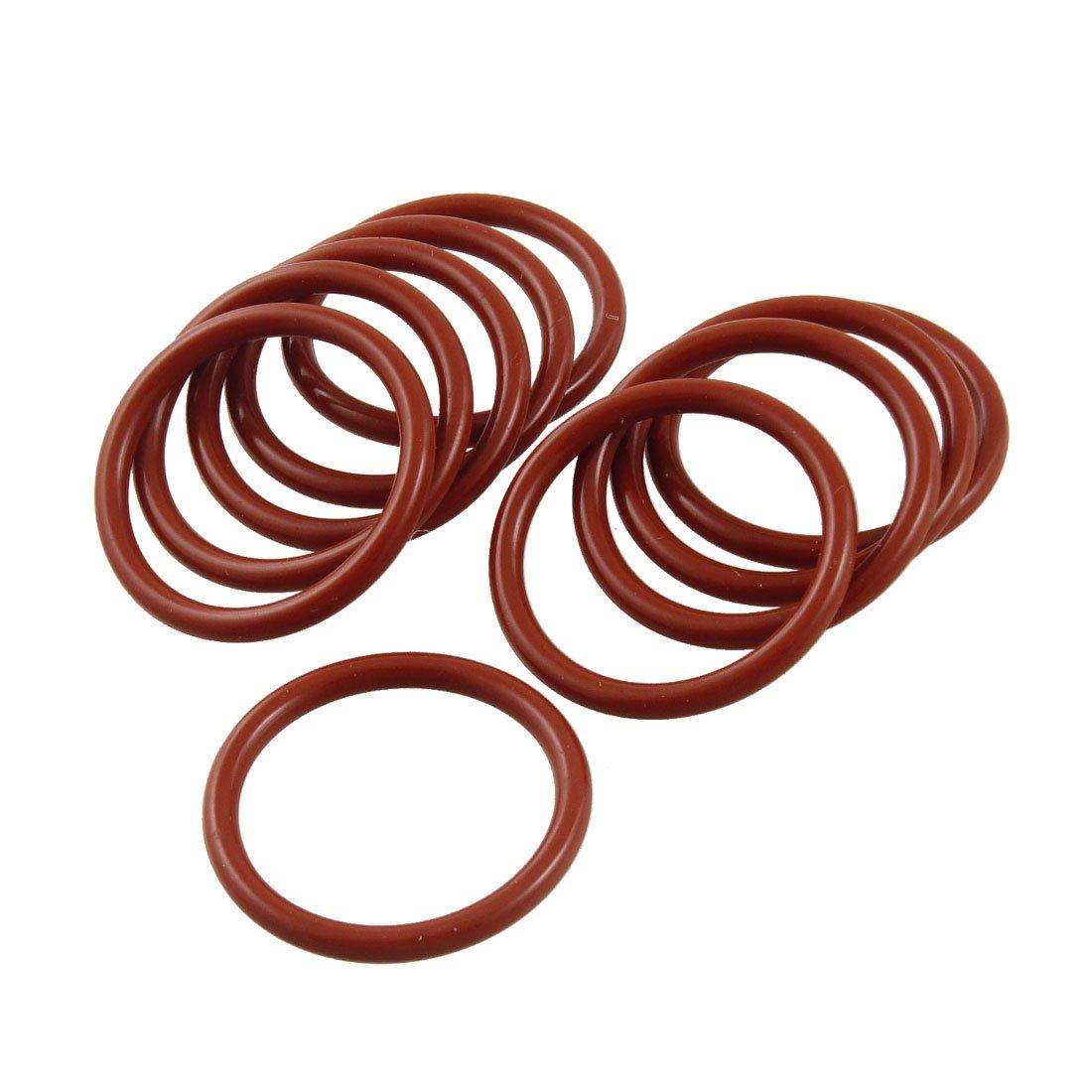 Sourcingmap - 10 parti di silicone industriali contenenti o-ring 35 guarnizione 29 millimetri x 3 mm x mm a12041800ux0201