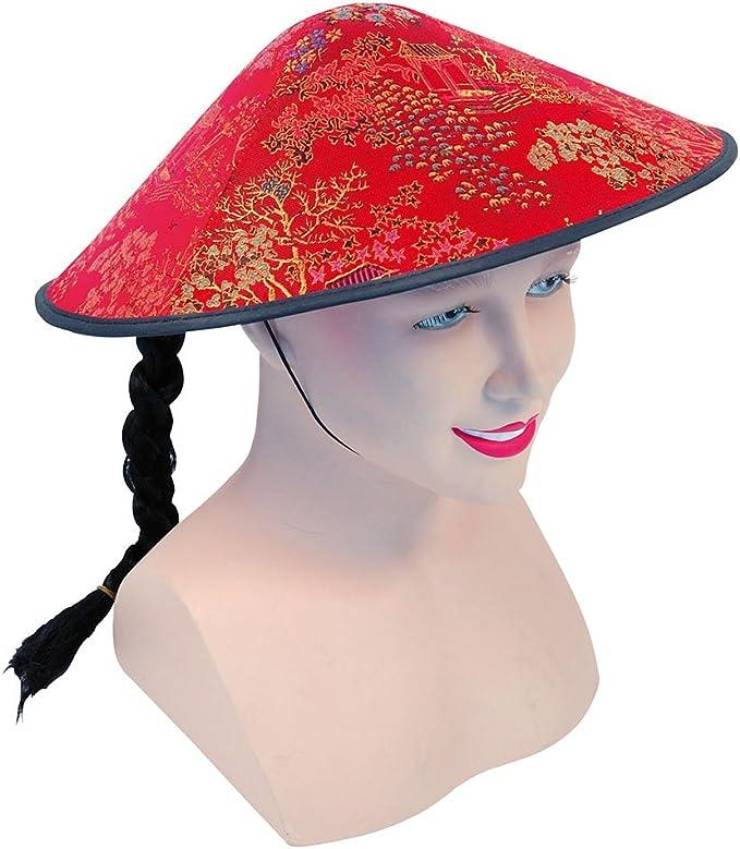 Chinese Coolie Felt Hat  Accessory Fancy Dress