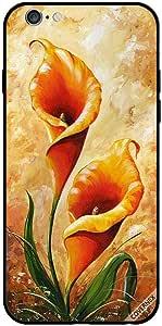 حافظة لجهاز ايفون 6s - فن الأزهار البرتقالي