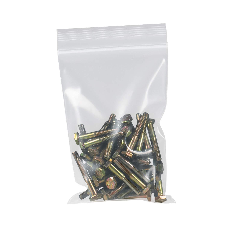 500//Case Poly Bag Guy 10 x 12 Heavy Duty Zipper Reclosable Plastic Poly Bags 6 Mil