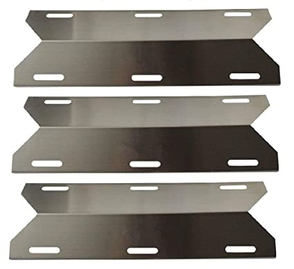 BBQ Energy Stainless Steel Replacement Heat Plate BBQ Gas Grill Heat Shield  91241 (3-pack) for Charmglow, Costco Kirkland, Nexgrill, Sterling Forge,