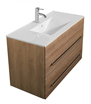 meuble salle de bain casa infinity 1000 décor chêne