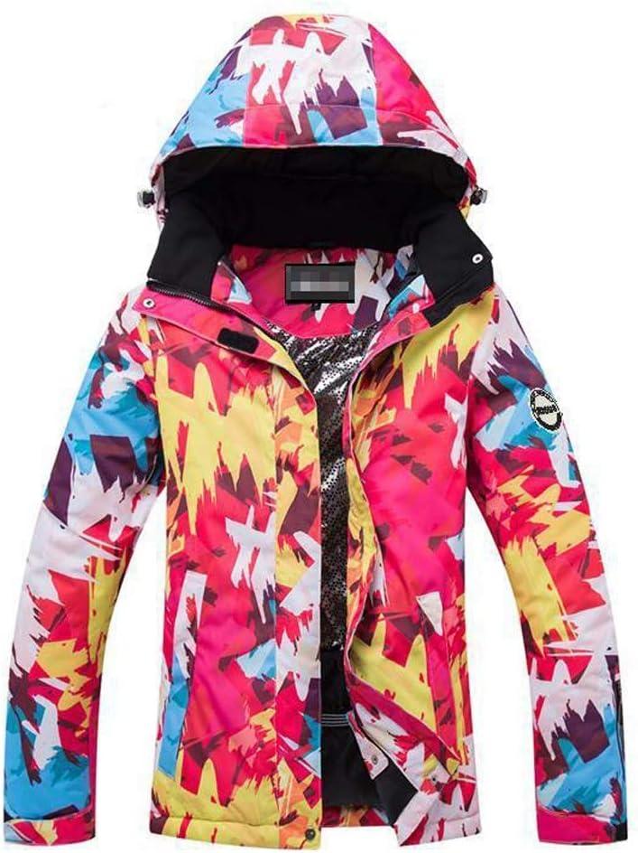 女性のカラフルなスキージャケットとズボンセット スノースカートレディースコート、調節可能なフードとカフス - 冬の理想的なスキー服 防風 (色 : 903, サイズ : 3XL)  3XL