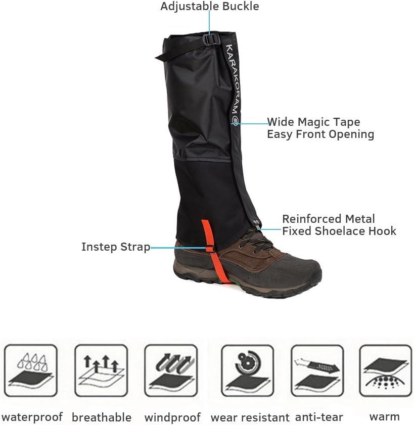 Nueva Negro, XL Weanas Unisex Aire Libre para Adultos monta/ña de Nieve Legging Polainas m/ás Durable a Prueba de Viento Impermeable de la Cubierta Zapatos Calidez,