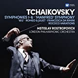 Tchaikovsky: Symphonies 1-6, Manfred Symphony, Francesca da Rimini, Romeo and Juliet fantasy overture, 1812, Rococo variations (6CD)