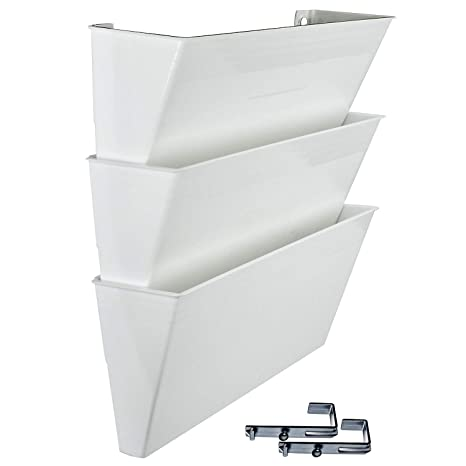 Acrimet Archivador de Pared Modular para Folletos o Documentos (3 Unidades) (Color Blanco