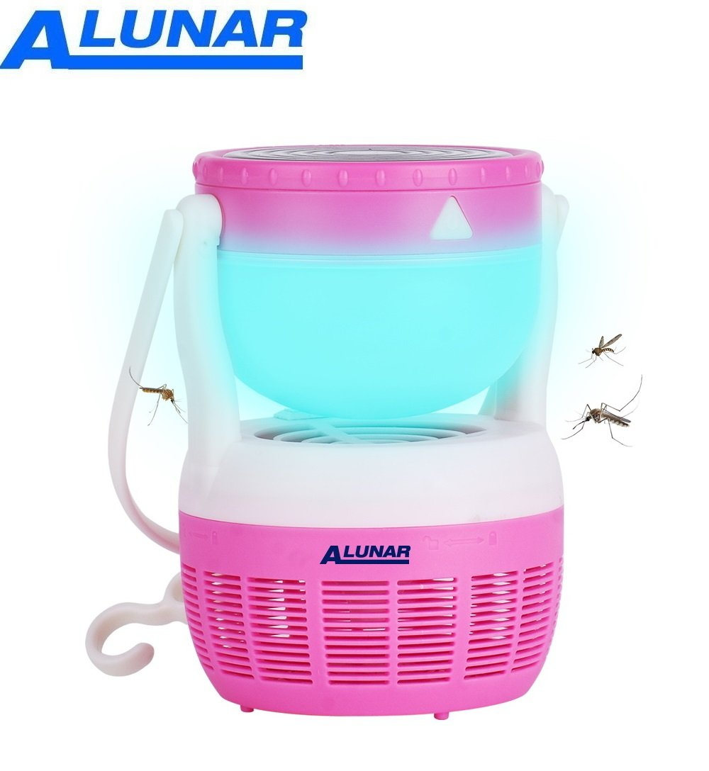 ALUNAR Mosquito Killer Lamp Insect Repellent Bug Fly Zapper Trap Pest Control LED Night Light Portable Hook Tent Camping Hiking Fishing Lantern USB or Battery Outdoor Garden Patio Backyard (Black) Alunar Direct ML849BK
