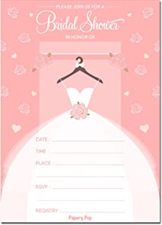 61n75edKtZL._AC_UL320_SR230320_ amazon com amscan blushing bride bridal shower party invitations,Who Is Invited To The Bridal Shower