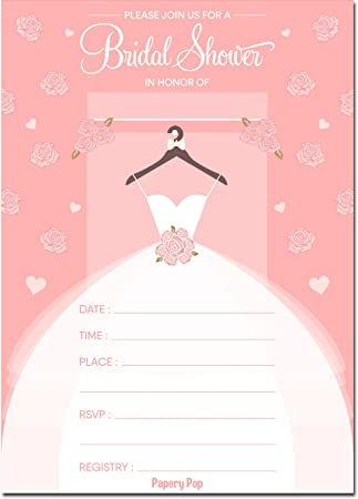 bridal shower invitations with envelopes 15 count wedding shower invitations