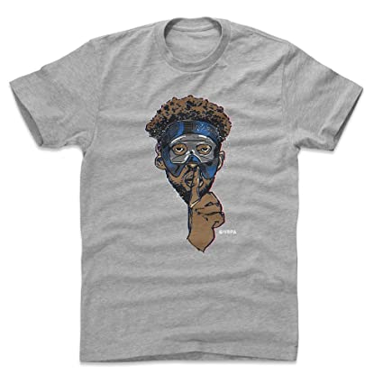 013a087ea 500 LEVEL Joel Embiid Cotton Shirt Small Heather Gray - Vintage Philadelphia  Basketball Men s Apparel -