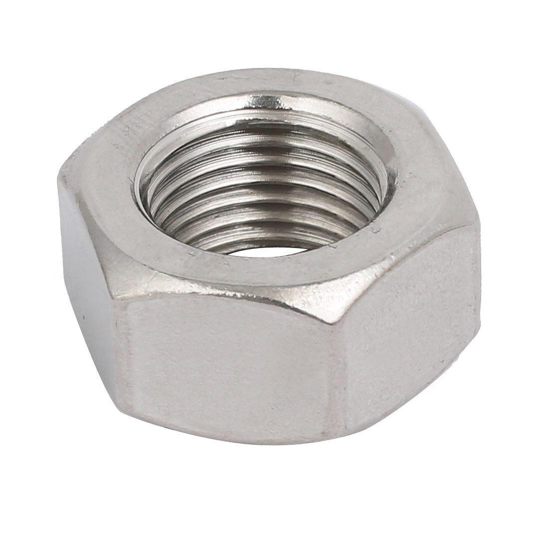 uxcell2pcs M16 x 1.5mm Pitch Metric Fine Thread 304 Stainless Steel Hex Nuts