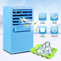 Qirageins Mini Portable Air Conditioner, 9.5 inch Air Cooler 3 Adjustable Speed Evaporative Coolers Personal Space Quiet for Office Home Outdoor Travel