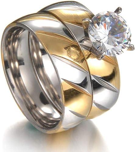 Bridal Wedding Bands Decorative Bands Titanium Polished Grooved Comfort Back CZ Ring Size 12